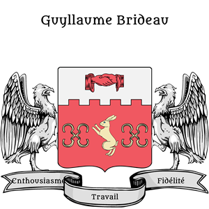 Coat of Arms of Guyllaume Brideau